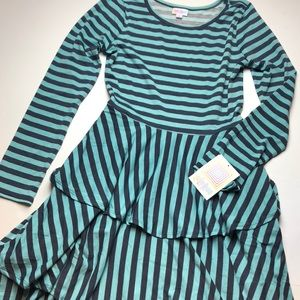NWT Lularoe Georgia ruffle dress